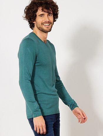 Jersey ligero con cuello de pico - Kiabi 6e26082ff600