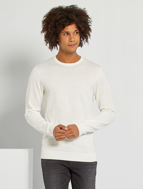 Jersey ligero con cuello redondo                                                                                                                                                                                                                 blanco nieve