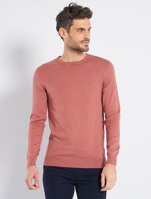 Jersey ligero con cuello redondo                                                                                                                 ROSA