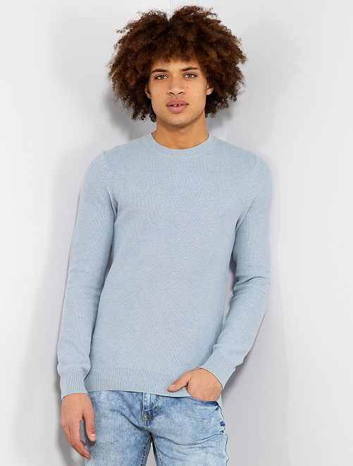 Jersey ligero de algodón                                         AZUL Hombre