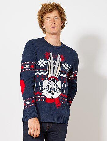 Hombre talla S-XXL - Jersey navideño 'Bugs Bunny' - Kiabi