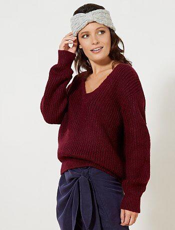 Mujer talla 34 to 48 - Jersey oversize de punto grueso - Kiabi