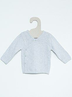 Niño 0-36 meses Jersey para bebé de punto fino de algodón puro