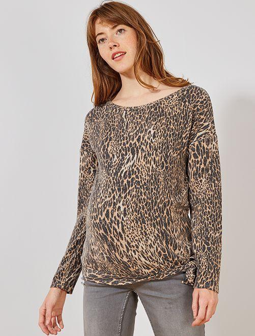 Jersey premamá punto extrasuave                             leopardo