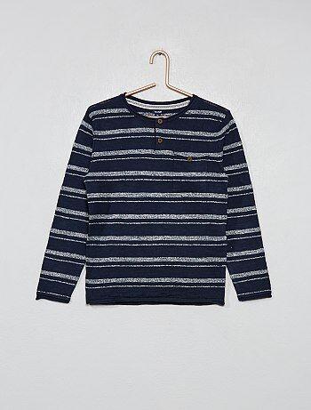 Jersey rayas de algodón orgánico - Kiabi 737534b7638c