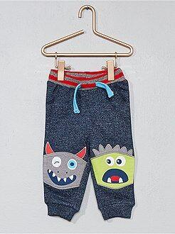 Pantalones - Jogging 'monstruos' de felpa - Kiabi
