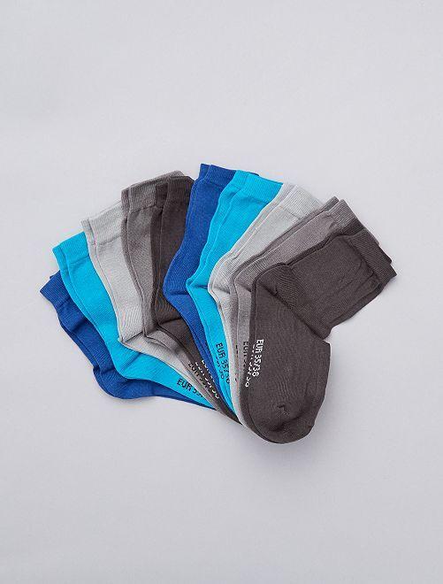Juego de 10 pares de calcetines                             gris/azul Chico