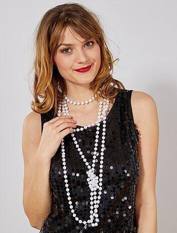 aa60c5b20d001 Accesorios - Juego de 2 collares largos de perlas - Kiabi