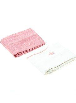 Niña 0-36 meses Juego de 2 mantas estampadas para bebé