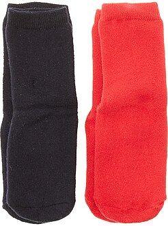 Niño 3-12 años Juego de 2 pares de calcetines antideslizantes