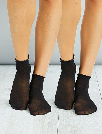 Juego de 2 pares de calcetines de plumeti - Kiabi