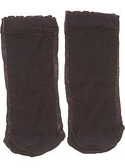 Lencería de la S a la XXL Juego de 2 pares de calcetines tobilleros