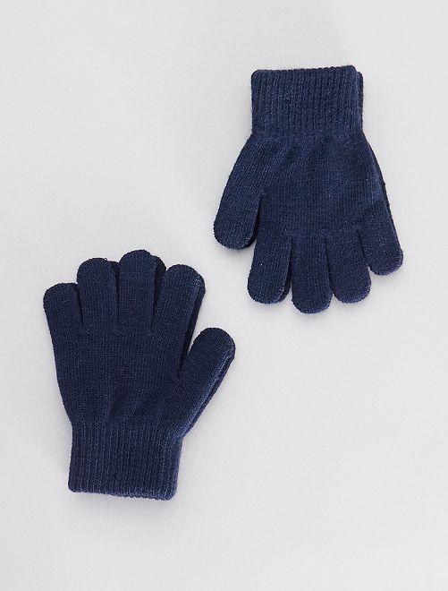 Juego de 2 pares de guantes                                                     azul