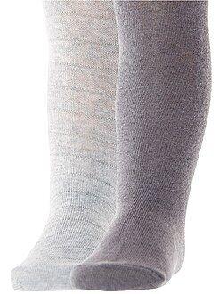 Calcetines, leotardos - Juego de 2 pares de leotardos - Kiabi