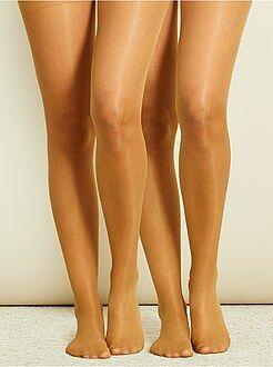 Calcetines, medias - Juego de 2 pares de medias de gasa 20D - Kiabi