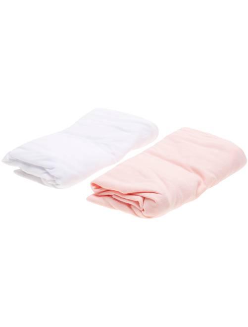 Juego de 2 sábanas bajeras                                                     rosa Bebé niña