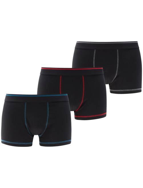 Juego de 3 boxers                             azul/rojo/gris Hombre