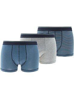 Juego de 3 boxers de algodón elástico - Kiabi