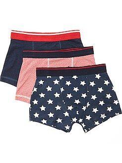 Ropa interior - Juego de 3 boxers estampados 'banderas norteamericanas' - Kiabi