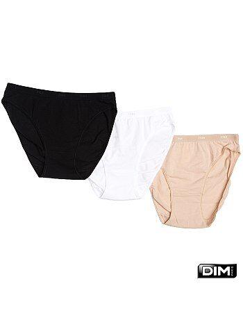 Juego de 3 bragas de algodón Les Pockets de 'DIM' - Kiabi