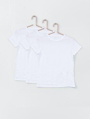 Juego de 3 camisetas blancas - Kiabi