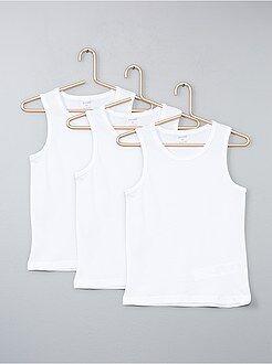Niña 10-18 años Juego de 3 camisetas de algodón sin mangas