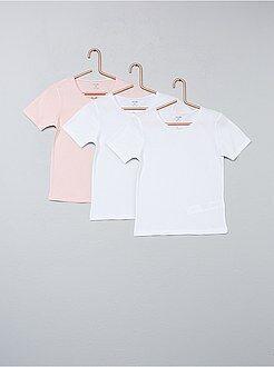 Ropa interior - Juego de 3 camisetas lisas - Kiabi