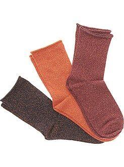 Calcetines, medias - Juego de 3 pares de calcetines con fibra metálica