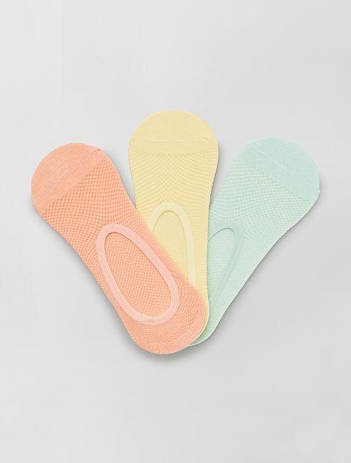 Juego de 3 pares de calcetines invisibles                                                     AMARILLO