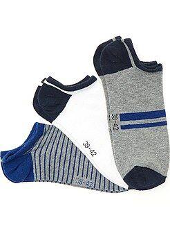 Hombre Juego de 3 pares de calcetines invisibles