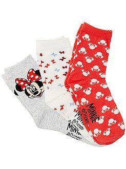 Niña 3-12 años Juego de 3 pares de calcetines 'Minnie'