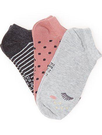 Juego de 3 pares de calcetines tobilleros - Kiabi
