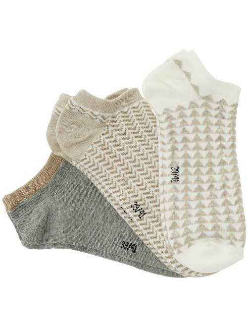 Juego de 3 pares de calcetines tobilleros                                                                                         blanco nieve Lencería de la s a la xxl