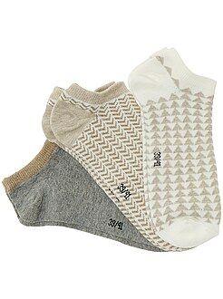 Lencería de la S a la XXL Juego de 3 pares de calcetines tobilleros