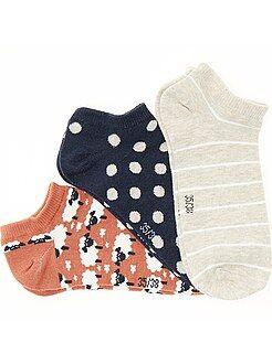Calcetines, medias - Juego de 3 pares de calcetines tobilleros - Kiabi