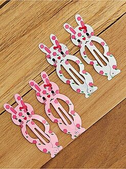 Accesorios - Juego de 4 horquillas de clip de conejo