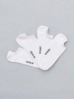 Calcetines - Juego de 4 pares de calcetines invisibles - Kiabi