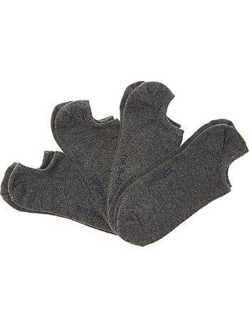 Hombre - Juego de 4 pares de calcetines invisibles - Kiabi