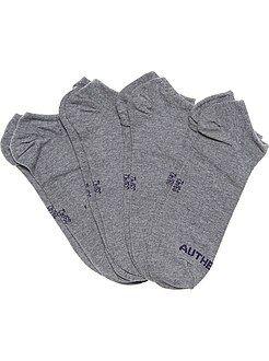 Juego de 4 pares de calcetines invisibles