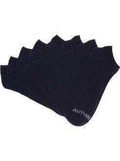 Deporte - Juego de 4 pares de calcetines invisibles - Kiabi