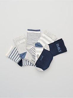 Niño 10-18 años Juego de 5 pares de calcetines