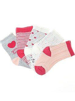 Calcetines, leotardos - Juego de 5 pares de calcetines