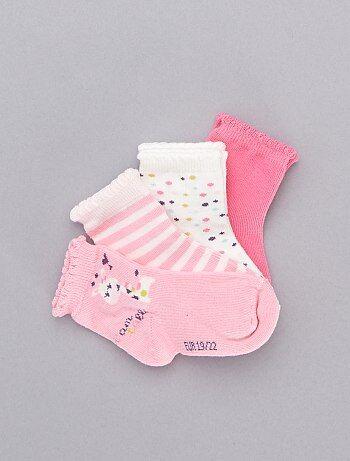 Niña 0-36 meses - Juego de 5 pares de calcetines de jirafa - Kiabi