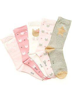 Leotardos, calcetines - Juego de 5 pares de calcetines