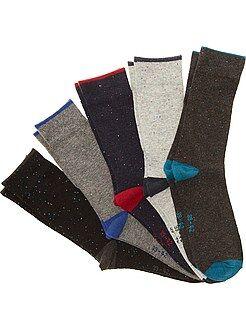 Hombre Juego de 5 pares de calcetines