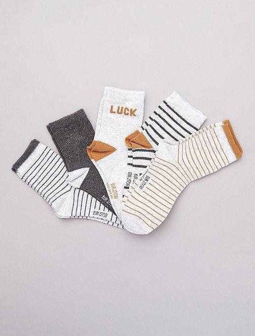 Juego de 5 pares de calcetines                                         negro