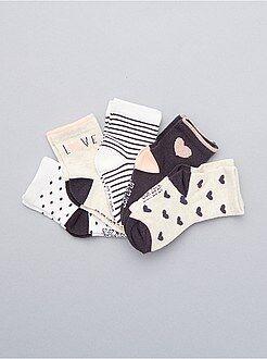 Niña 0-36 meses Juego de 5 pares de calcetines