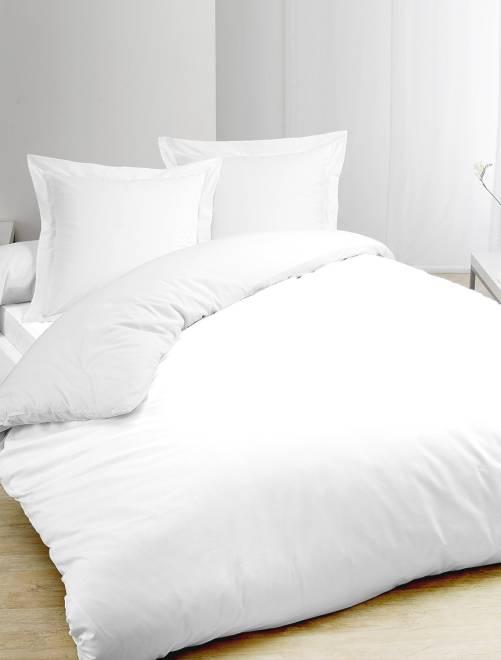 Juego de cama blanco de algodón puro                             blanco
