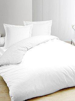 Juego de cama blanco de algodón puro - Kiabi