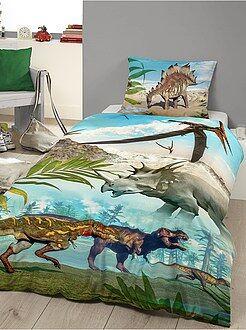 Ropa de cama infantil - Juego de cama con estampado de 'dinosaurios'